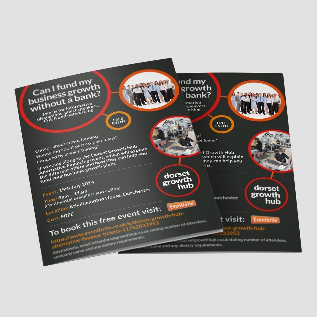 Dorset Growth Hub flyer design