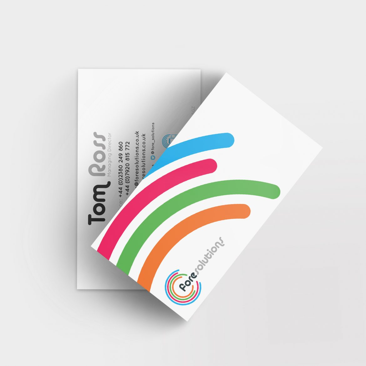 Fore Solutions Business Cards
