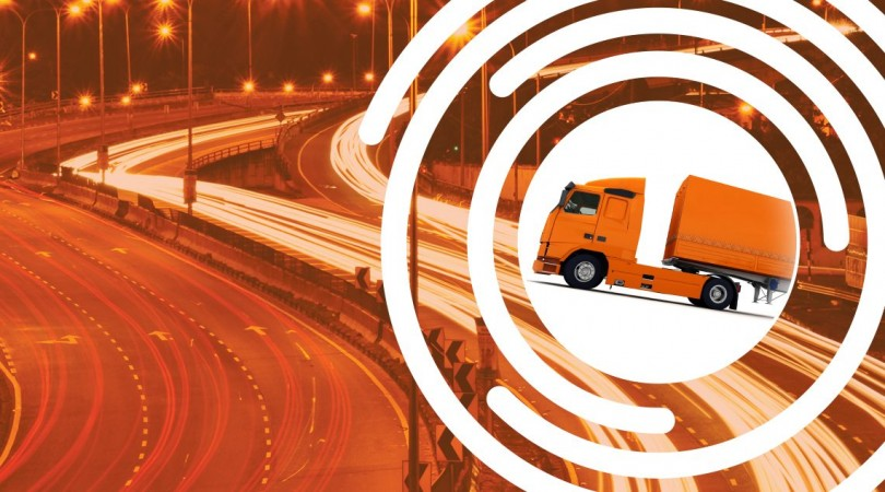 fore solutions lorry on a motorway
