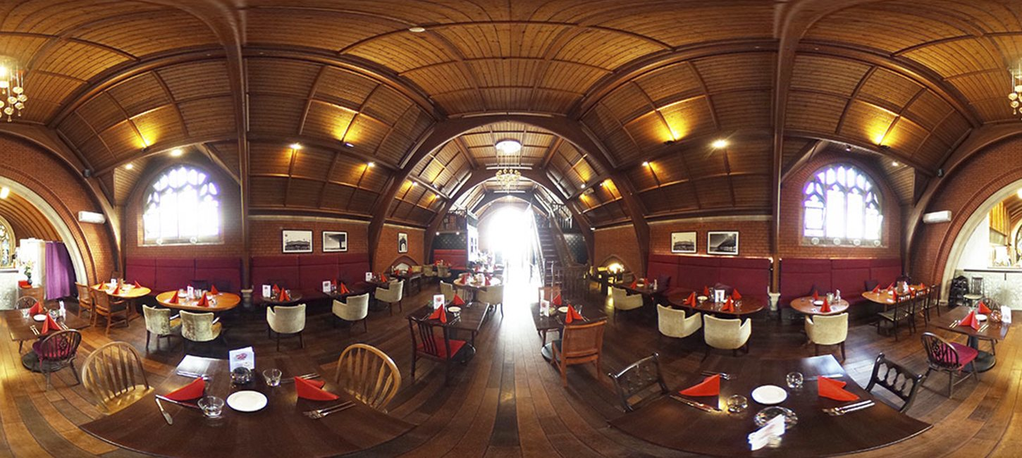 360 panoramic photograph of Plates & Co.