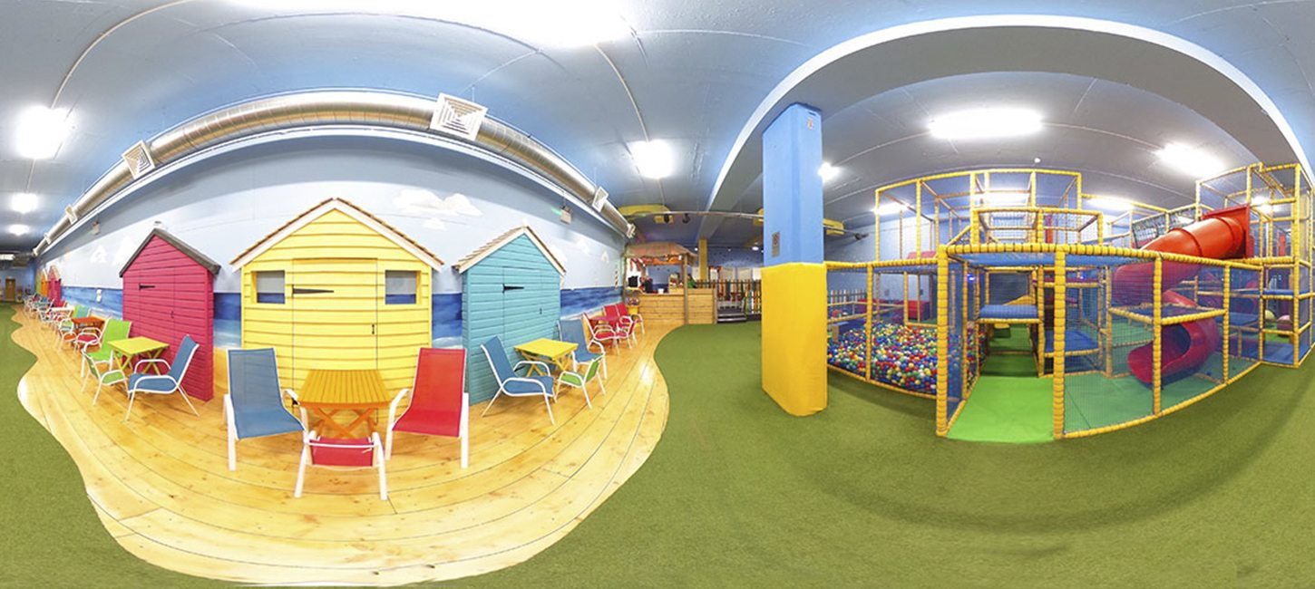 360 panoramic photograph of play area