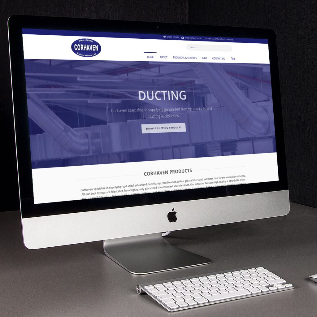 Corhaven ducting supplies webpage