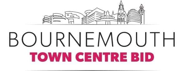 The town centre BID's new logo featuring the iconic and recognisable buildings from the town centre.