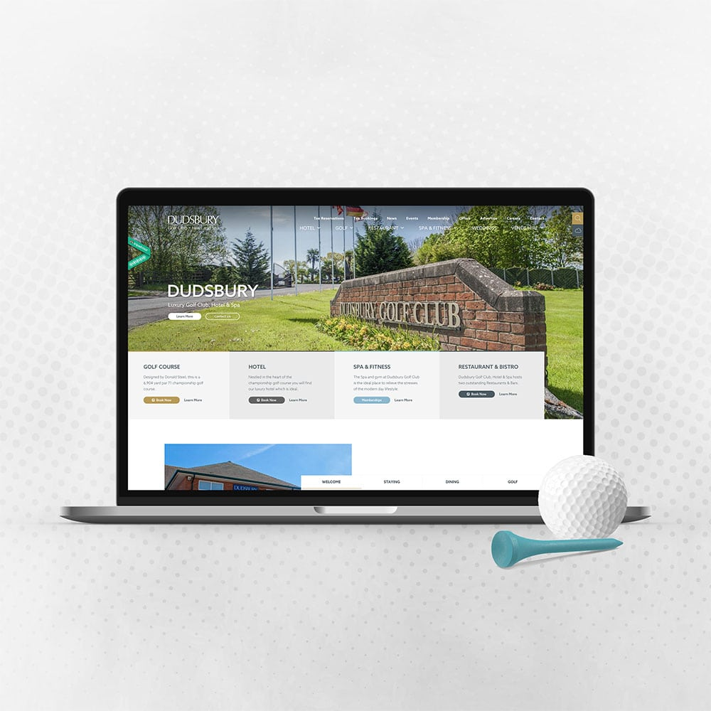 dudsbury golf club Mac web design