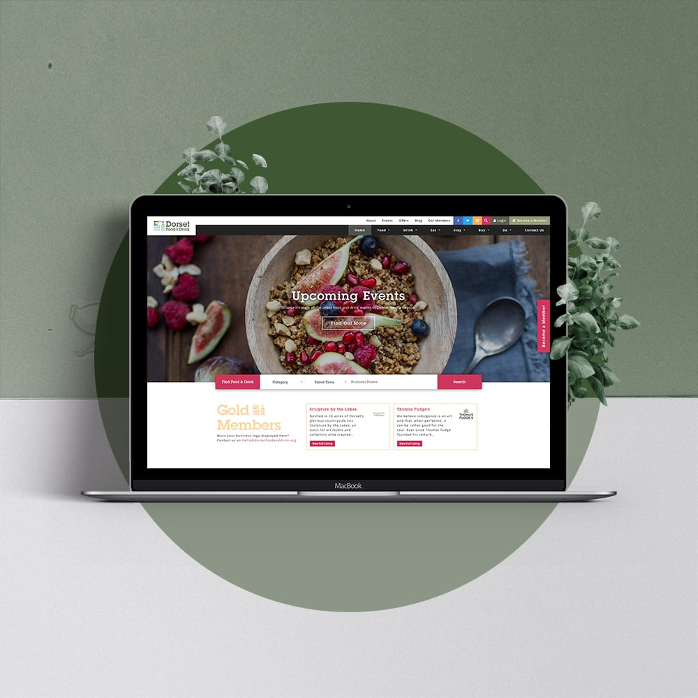 Dorset food & drink iMac web design