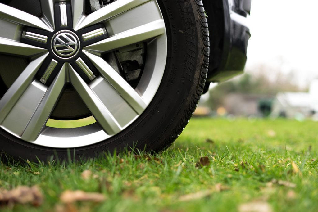 Vw campervan close up of wheel - Prepare for a VW campervan holiday